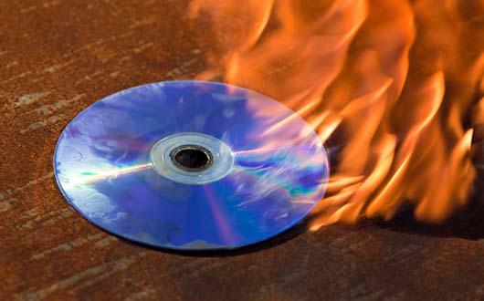 Burning laser disc